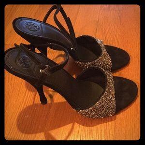 Tory Burch New Hematite Black evening shoes. Sz 8.
